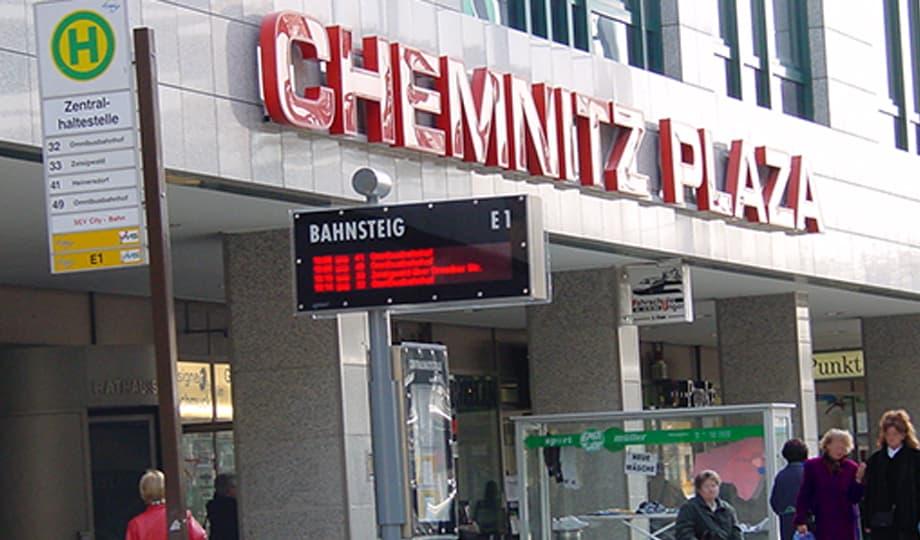 Eingang Chemnitz Plaza in Chemnitz